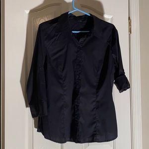 Black Button up front Apt 9 dress shirt XL